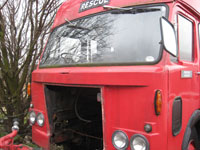 Dennis f108 fire engine before restoration