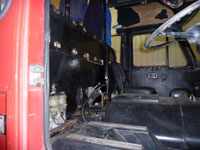 interior of the fire engine will need restoration