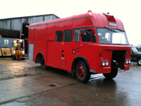 fire engine during restoration